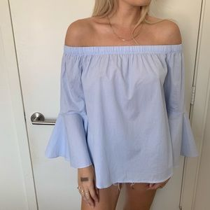 Off the shoulder blouse with bell sleeves